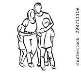 family | Shutterstock .eps vector #298711106