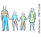 family | Shutterstock .eps vector #298711166