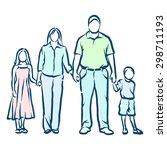 family | Shutterstock .eps vector #298711193
