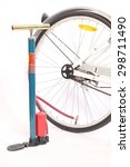 Small photo of air pump with bicycle