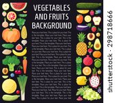 vegetables and fruits vector... | Shutterstock .eps vector #298718666