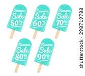 popsicle sale badges set. can...   Shutterstock .eps vector #298719788