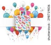 white paper banner  shopping... | Shutterstock .eps vector #298719836
