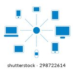 icon set of screen devices | Shutterstock .eps vector #298722614