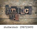 "phrase ""contact us"" written... | Shutterstock . vector #298723493"