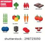 antioxidant foods infographics | Shutterstock .eps vector #298725050