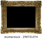picture frame with black... | Shutterstock . vector #298731374