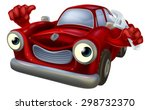 cartoon car character holding a ... | Shutterstock .eps vector #298732370