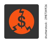 financial crash icon from... | Shutterstock . vector #298734926