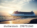 yacht cruise ship sea ocean... | Shutterstock . vector #298751360