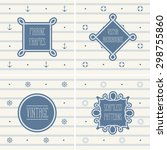 seamless vintage sailor pattern ... | Shutterstock .eps vector #298755860