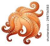 close up giant octapus legs | Shutterstock .eps vector #298756583