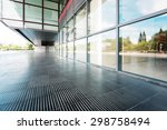 Modern Building Glass Wall And...
