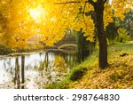 beautiful autumn landscape with ... | Shutterstock . vector #298764830