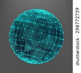 green sphere with triangles and ... | Shutterstock .eps vector #298772759