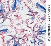 field flowers seamless pattern | Shutterstock . vector #298773998