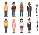 people in different styles....   Shutterstock .eps vector #298778543