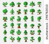 36 Cartoon Vector Trees