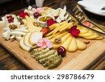 cheese plate assortment of... | Shutterstock . vector #298786679