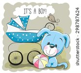 greeting card it's a boy with... | Shutterstock .eps vector #298787624