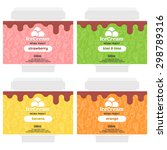 cute fruit ice cream package... | Shutterstock .eps vector #298789316