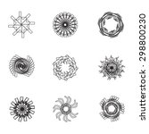 set with ball shaped patterns | Shutterstock .eps vector #298800230