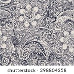 paisley floral seamless... | Shutterstock .eps vector #298804358