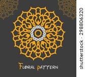 circular symmetrical yellow... | Shutterstock . vector #298806320