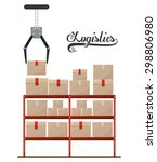 logistics digital design ... | Shutterstock .eps vector #298806980