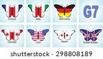 creative image of the flags of...   Shutterstock .eps vector #298808189