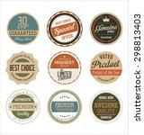 premium  quality retro vintage...   Shutterstock .eps vector #298813403