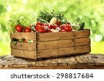 diet of vegetables  | Shutterstock . vector #298817684