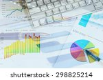 financial graphs analysis and... | Shutterstock . vector #298825214