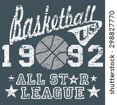 basketball all star league... | Shutterstock . vector #298827770