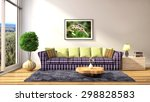 interior with sofa. 3d... | Shutterstock . vector #298828583