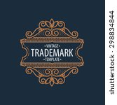 luxury monogram logo identity... | Shutterstock .eps vector #298834844