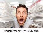 emotional stress  exhaustion ... | Shutterstock . vector #298837508