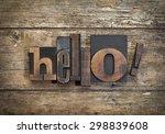 "word ""hello "" written with... | Shutterstock . vector #298839608"