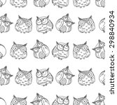 vector seamless pattern with... | Shutterstock .eps vector #298840934
