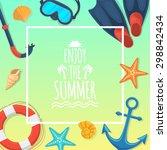 summer tropic vacation... | Shutterstock .eps vector #298842434