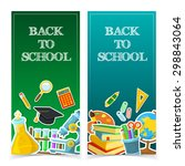 welcome back to school.... | Shutterstock .eps vector #298843064