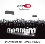 crowd of fans for sports and... | Shutterstock .eps vector #298845329