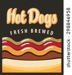vector banner with hot dog in... | Shutterstock .eps vector #298846958