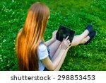 portrait of beautiful caucasian ... | Shutterstock . vector #298853453