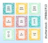 set of vector card brochure...   Shutterstock .eps vector #298861913
