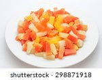 fruit cocktail in syrup ... | Shutterstock . vector #298871918