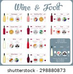 types of wine combined with... | Shutterstock .eps vector #298880873