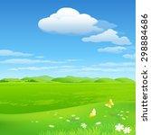 green environment illustration | Shutterstock .eps vector #298884686