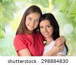 happy  women  family. | Shutterstock . vector #298884830