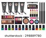 vector fashion female makeup... | Shutterstock .eps vector #298889780